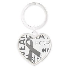 I wear gray for my best friend Diab Heart Keychain