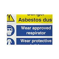 Danger Asbestos Rectangle Magnet