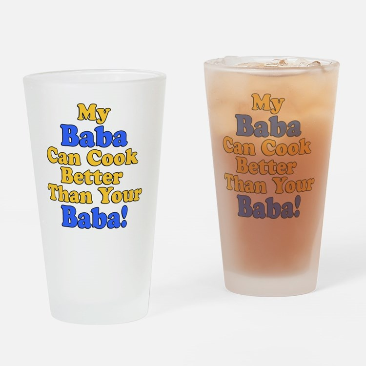 My Baba Cook Better Drinking Glass
