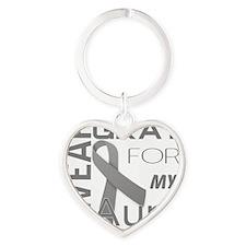 I wear gray for aunt Diabetes Aware Heart Keychain