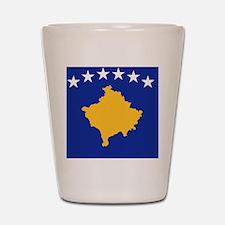 Kosovo flag Shot Glass