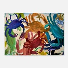 Crab Party 5'x7'Area Rug