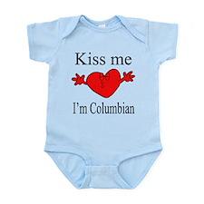 Kiss Me I'm Columbian Infant Bodysuit