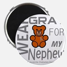 I Wear Gray for my Nephew Diabetes Awarenes Magnet
