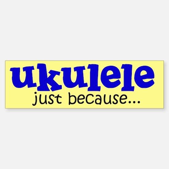 Funny Ukulele Bumper Car Car Sticker
