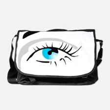 Human eye Messenger Bag