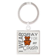 Iwear gray for my cousin Juvenile  Square Keychain