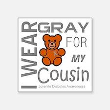 """Iwear gray for my cousin Ju Square Sticker 3"""" x 3"""""""
