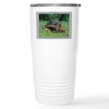 Alaska Brown Bear Cubs Travel Coffee Mug