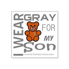 "I Wear Gray for my Son Juve Square Sticker 3"" x 3"""