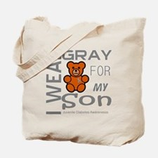 I Wear Gray for my Son Juvenile Diabetes  Tote Bag