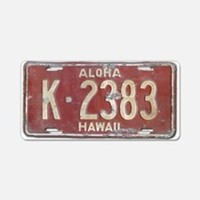 Hawaiian Aloha LIcense Plat Aluminum License Plate