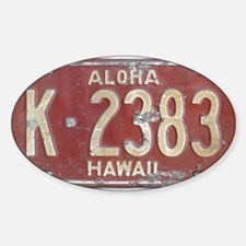 Hawaiian Aloha LIcense Plate Decal