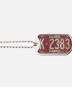 Hawaiian Aloha LIcense Plate Dog Tags