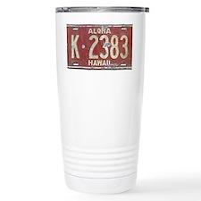 Hawaiian Aloha LIcense  Travel Mug
