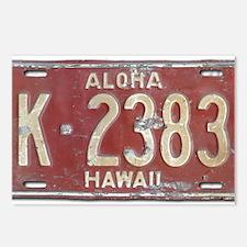 Hawaiian Aloha LIcense Pl Postcards (Package of 8)