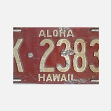 Hawaiian Aloha LIcense Plate Rectangle Magnet