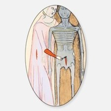 Human dissection, 14th century artw Decal