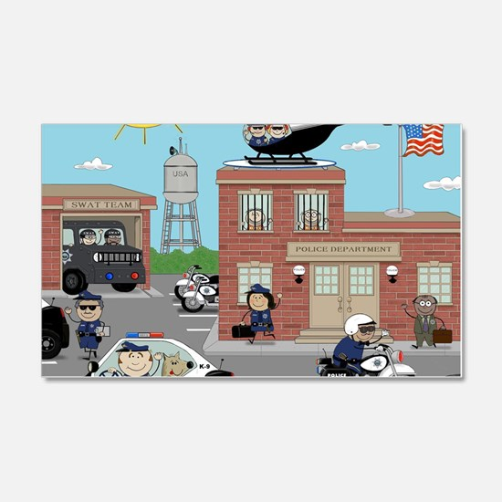 POLICE DEPARTMENT SCENE Decal Wall Sticker