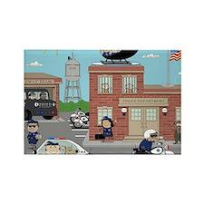 POLICE DEPARTMENT SCENE Rectangle Magnet