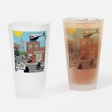 POLICE DEPARTMENT SCENE Drinking Glass