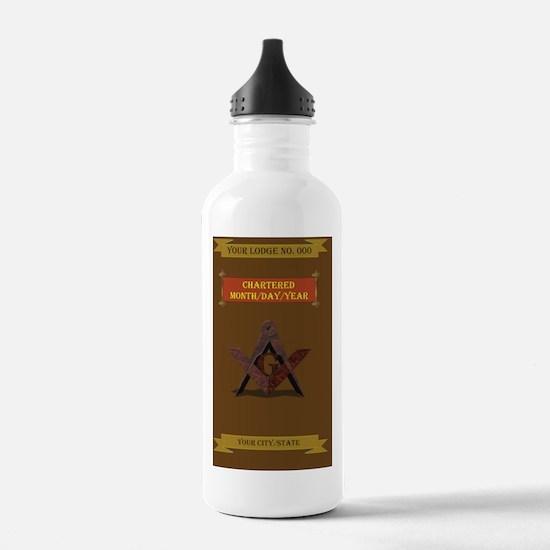 Masonic 3x5 Regalia Water Bottle