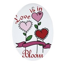 Love Is In Bloom Oval Ornament