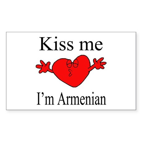 Kiss Me I'm Armenian Rectangle Sticker