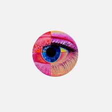 Human eye Mini Button