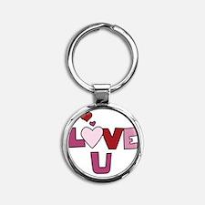 Love U Round Keychain