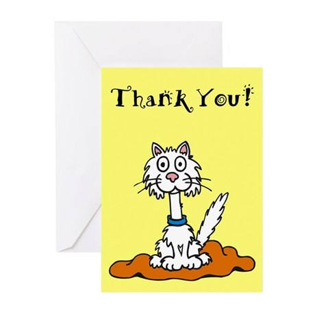 Cat Thank You Cards (Pk of 10)