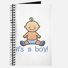 New Baby Boy Cartoon Journal