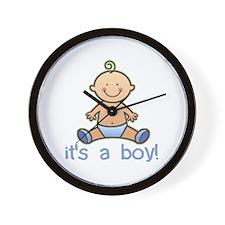 New Baby Boy Cartoon Wall Clock