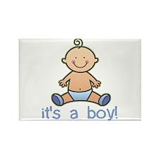 New Baby Boy Cartoon Rectangle Magnet