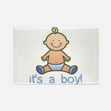 New Baby Boy Cartoon Rectangle Magnet