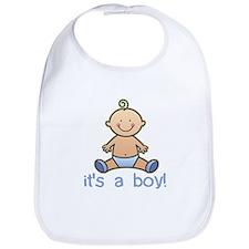 New Baby Boy Cartoon Bib