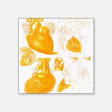 "Human heart Square Sticker 3"" x 3"""