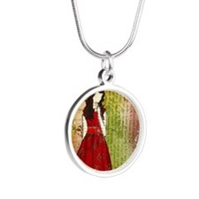 Christmas Eve Silver Round Necklace