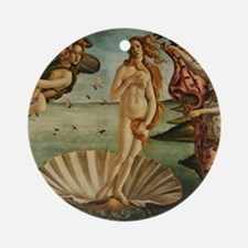 Botticelli Birth Of Venus Round Ornament