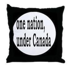 undercanadabutton Throw Pillow
