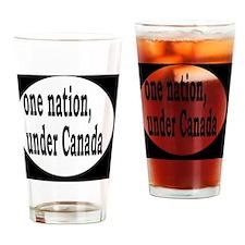 undercanadabutton Drinking Glass