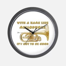 With a Name Like Mellophone Wall Clock