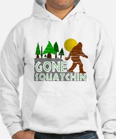 Gone Squatchin Vintage Retro Dis Jumper Hoody