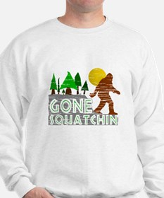 Gone Squatchin Vintage Retro Distressed Sweater