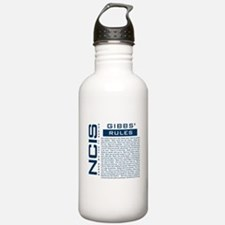 NCIS Gibbs Rules Water Bottle