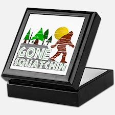 Gone Squatchin Vintage Retro Distress Keepsake Box