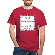 Water Spaniel Pawprint T-Shirt