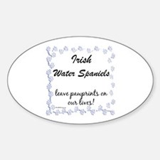 Water Spaniel Pawprint Oval Decal
