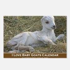 I Love Baby Goats Calenda Postcards (Package of 8)