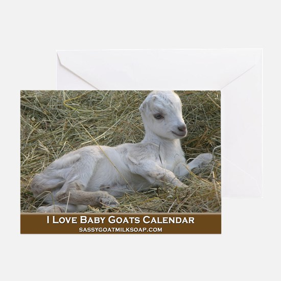 I Love Baby Goats Calendar Greeting Card